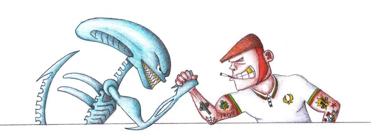 chuzhoy-vs-skinhead-risunok